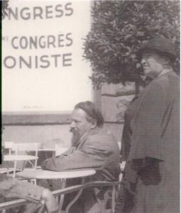 Theodor  Lessing wenige Tage vor seiner Ermordung auf dem 18. Zionistenkongress  in Prag.