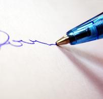 Unterschrift Symbol klein